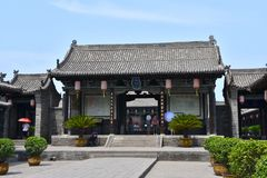 Detail of a Chinese Temple at Pingyao Ancient City, China royalty free stock photos