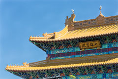Detail of a Chinese temple Royalty Free Stock Photos
