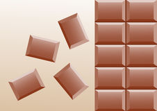 Detail of chocolate Stock Photography