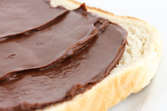 Detail of chocolate nut spread. Royalty Free Stock Photography
