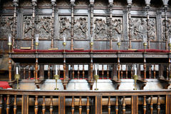 Detail of Choir Area of Kings College Chapel Royalty Free Stock Photos
