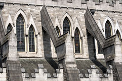 Detail of Christ Church Cathedral in Dublin, Ireland Stock Images