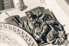 Detail of Christ the Savior cathedral in Moscow Royalty Free Stock Images