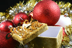 Detail of christmas ball Royalty Free Stock Photo