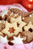 Detail of Christmas cookies Stock Image