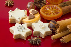 Detail of Christmas cookies with spices Stock Photos