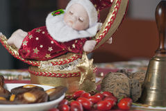 Detail of christmas doll Stock Image