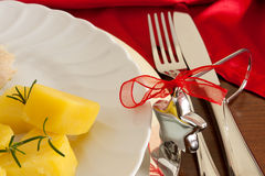Detail Of Christmas Table Royalty Free Stock Images
