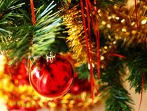 Detail of Christmas tree. A Christmas inspired still.life Stock Images