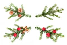 Detail of Christmas tree Royalty Free Stock Image