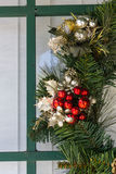 Detail on Christmas wreath Royalty Free Stock Photos