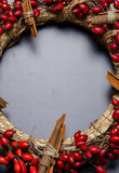 Detail of Christmas wreath Stock Images