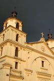 Detail of Church. Bogota. Colombia. Colors by sunset Royalty Free Stock Photos