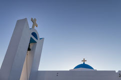 Detail of a church in Ano Koufonisi island, Cyclades, Greece Stock Image