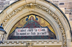 Detail of a church in Cöthen Royalty Free Stock Photo