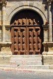 Detail of a church door, Penamacor, Portugal Royalty Free Stock Photos