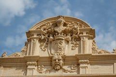 Detail of the church façade in Marsala, Sicily. Italy royalty free stock photo