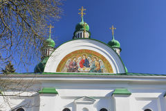 Detail of the church Stock Photography