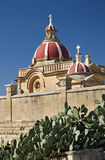 Detail of church in gozo island malta Royalty Free Stock Photos