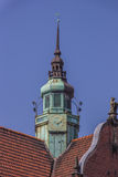 Detail of a church at the koberg square in Lubeck. Germany Royalty Free Stock Image