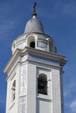Detail of church la Recoleta Cemetery with blue sky Royalty Free Stock Photography
