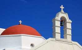 Detail of a church in Mykonos island Stock Photo