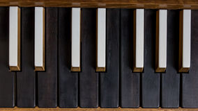 Detail of a church organ keyboard Stock Images