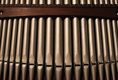 A detail of  Church Organ Pipes Stock Photos