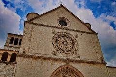 Detail of church of San Francesco in Assisi royalty free stock images