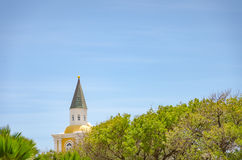Detail of a church tower alone in Curacao Stock Photography