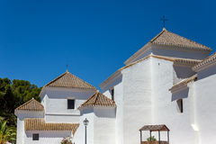 Detail of church towers in Mijas Stock Image
