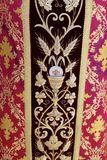 Detail of church vestment royalty free stock image