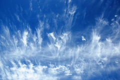 Detail of a cirrus cloud Stock Photo