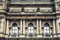 Glasgow City Chambers. Detail of the City Chambers, Glasgow, UK Stock Image