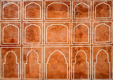 Beautiful pattern on palace wall in Jaipur,India. Detail of the city palace in Indian city of Jaipur Stock Images