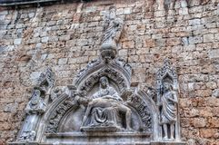 Burial of Christ, sculpture, Dubrovnik, Croatia. Royalty Free Stock Photography