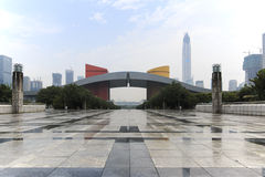 Detail of the Civic Center in Shenzhen Royalty Free Stock Images