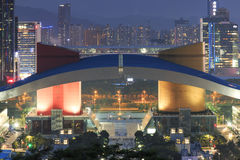 Detail of the Civic Center in Shenzhen at dusk Stock Photography