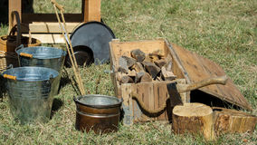 Detail on civil war  camp Stock Photography