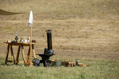 Detail on civil war  camp Royalty Free Stock Photos