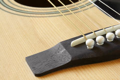 Detail of classic acoustic guitar Royalty Free Stock Images