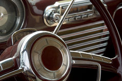 Detail of a classic car. Close up detail of a classic car at a car show Stock Photography