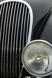 Detail of a classic car. Close up detail of a classic Jaguar car at a car show Stock Photo