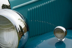 Detail of a classic car. Close up detail of a classic Lincoln at a car show Royalty Free Stock Photo