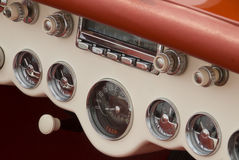 Detail of a classic car. Close up detail of a classic car at a car show Royalty Free Stock Photos