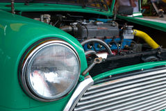 Detail of classic compact car Royalty Free Stock Images