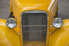 Amercan classic cars. Detail of classic custom American show car Royalty Free Stock Photos