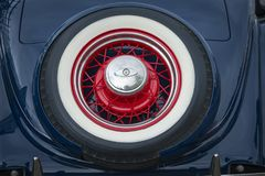 Amercan classic cars. Detail of classic custom American show car Royalty Free Stock Photo