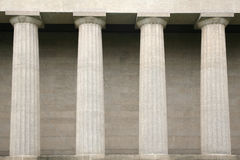 Detail of classic Greek columns Royalty Free Stock Image