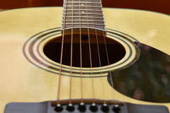 Detail of classic guitar Stock Photos